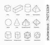 geometric shapes isometric...   Shutterstock .eps vector #742712269