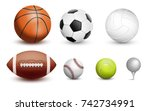 sports balls. vector... | Shutterstock .eps vector #742734991