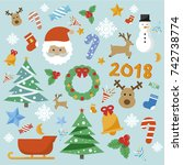 christmas element vector concept | Shutterstock .eps vector #742738774