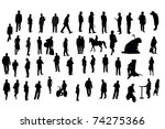 vector silhouettes of different ... | Shutterstock .eps vector #74275366