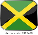 jamaica flag icon with official ... | Shutterstock .eps vector #7427623