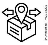 outbound vector icon   Shutterstock .eps vector #742765231