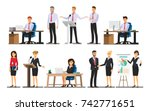 businessman character in the... | Shutterstock .eps vector #742771651