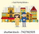 vietnam home and kids | Shutterstock .eps vector #742782505