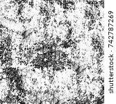 black and white grunge... | Shutterstock . vector #742787269