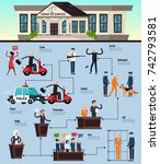law and justice orthogonal... | Shutterstock .eps vector #742793581