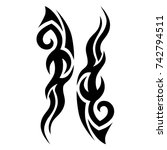 tattoo tribal vector design.... | Shutterstock .eps vector #742794511