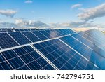 solar panels  electricity  sun  ... | Shutterstock . vector #742794751