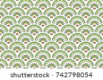 colorful textured seamless... | Shutterstock . vector #742798054