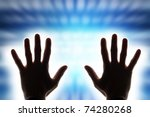 Male Hands Radiating Energy
