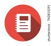 notebook icon   Shutterstock .eps vector #742813291