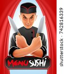 japanese chef | Shutterstock .eps vector #742816339