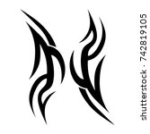 tattoo tribal vector design.... | Shutterstock .eps vector #742819105