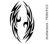 tattoo tribal vector designs.... | Shutterstock .eps vector #742819111