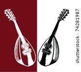 mandolin vector   Shutterstock .eps vector #74281987