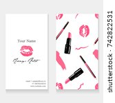 makeup artist business card... | Shutterstock .eps vector #742822531