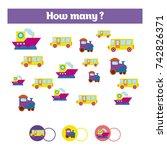 counting educational children... | Shutterstock .eps vector #742826371