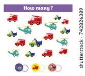 counting educational children... | Shutterstock .eps vector #742826389