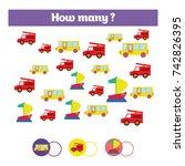 counting educational children... | Shutterstock .eps vector #742826395