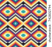 tribal seamless colorful... | Shutterstock .eps vector #742832794