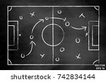the scheme of the game.... | Shutterstock .eps vector #742834144