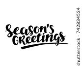season greeting quote  vector... | Shutterstock .eps vector #742834534