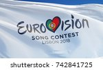 eurovision song contest 2018 in ... | Shutterstock . vector #742841725