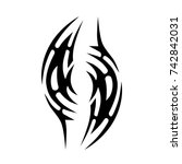 tattoo tribal vector designs.... | Shutterstock .eps vector #742842031