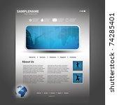 website template | Shutterstock .eps vector #74285401