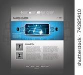 website template   Shutterstock .eps vector #74285410