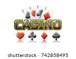 logo text casino and playing...