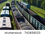 commodity railway station. top... | Shutterstock . vector #742858525