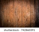 old brown wood flooring from... | Shutterstock . vector #742860391