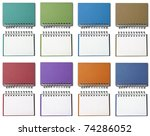 Eight colors of Blank Note Book For write anythings in it - stock photo