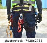 equipment on the working at...   Shutterstock . vector #742862785