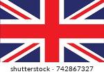 british flag vector | Shutterstock .eps vector #742867327