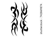 tattoos ideas designs   tribal... | Shutterstock .eps vector #742869874