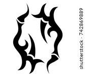 tattoo tribal vector design.... | Shutterstock .eps vector #742869889