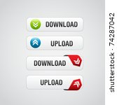 set of download buttons 2 with... | Shutterstock .eps vector #74287042