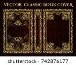 vector classical book cover.... | Shutterstock .eps vector #742876177