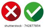 check mark icon | Shutterstock .eps vector #742877854
