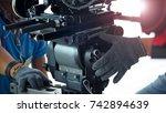behind the scenes of 4k high... | Shutterstock . vector #742894639