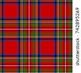scottish plaid in classic... | Shutterstock .eps vector #742895269