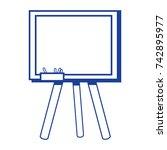 silhouette school blackboard... | Shutterstock .eps vector #742895977