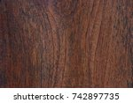 surface of brown wood table.... | Shutterstock . vector #742897735