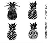 pineapple  illustration   fruit  | Shutterstock . vector #742904164