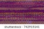 ethnic watercolor seamless...   Shutterstock . vector #742915141