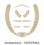 wheart ornament. design... | Shutterstock .eps vector #742919461