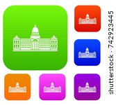 palace of congress in buenos... | Shutterstock .eps vector #742923445