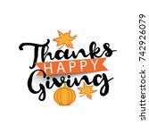 illustration  greeting card... | Shutterstock .eps vector #742926079